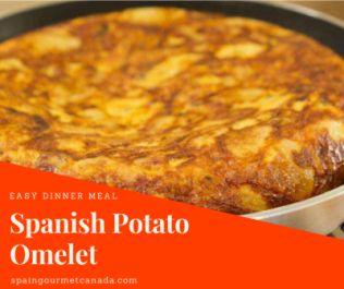 Spanish Potato Omelet in 3 easy steps